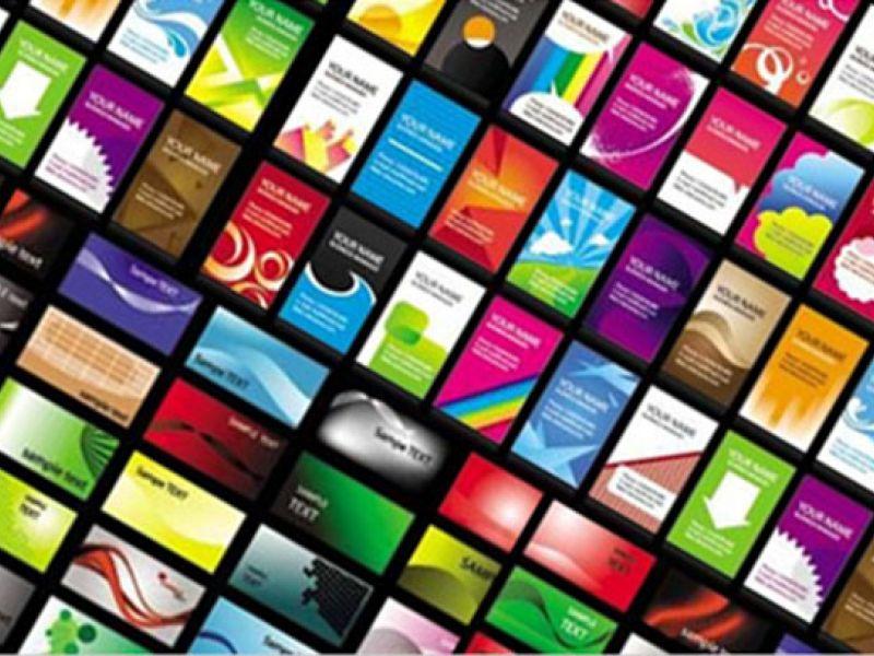 Цветные визитки